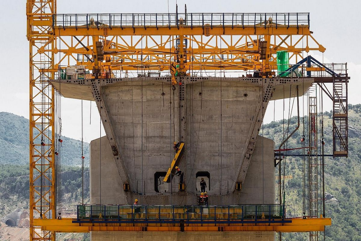 """A view of the """"Vjeternik"""" tunnel construction site of the Bar-Boljare Highway. Imposing bridges and deep-cut tunnels are among the features of the project, described by one EU critic as a highway to nowhere. A tunnel construction site of the 165km Ba"""