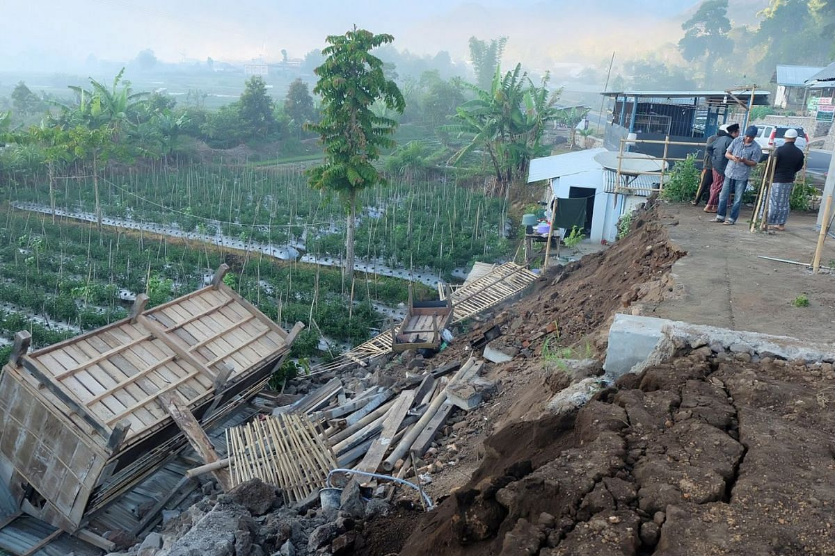 Damage is seen following an earthquake in Lombok, Indonesia, July 29, 2018 in this picture obtained from social media. PHOTO: LALU ONANK VIA REUTERS
