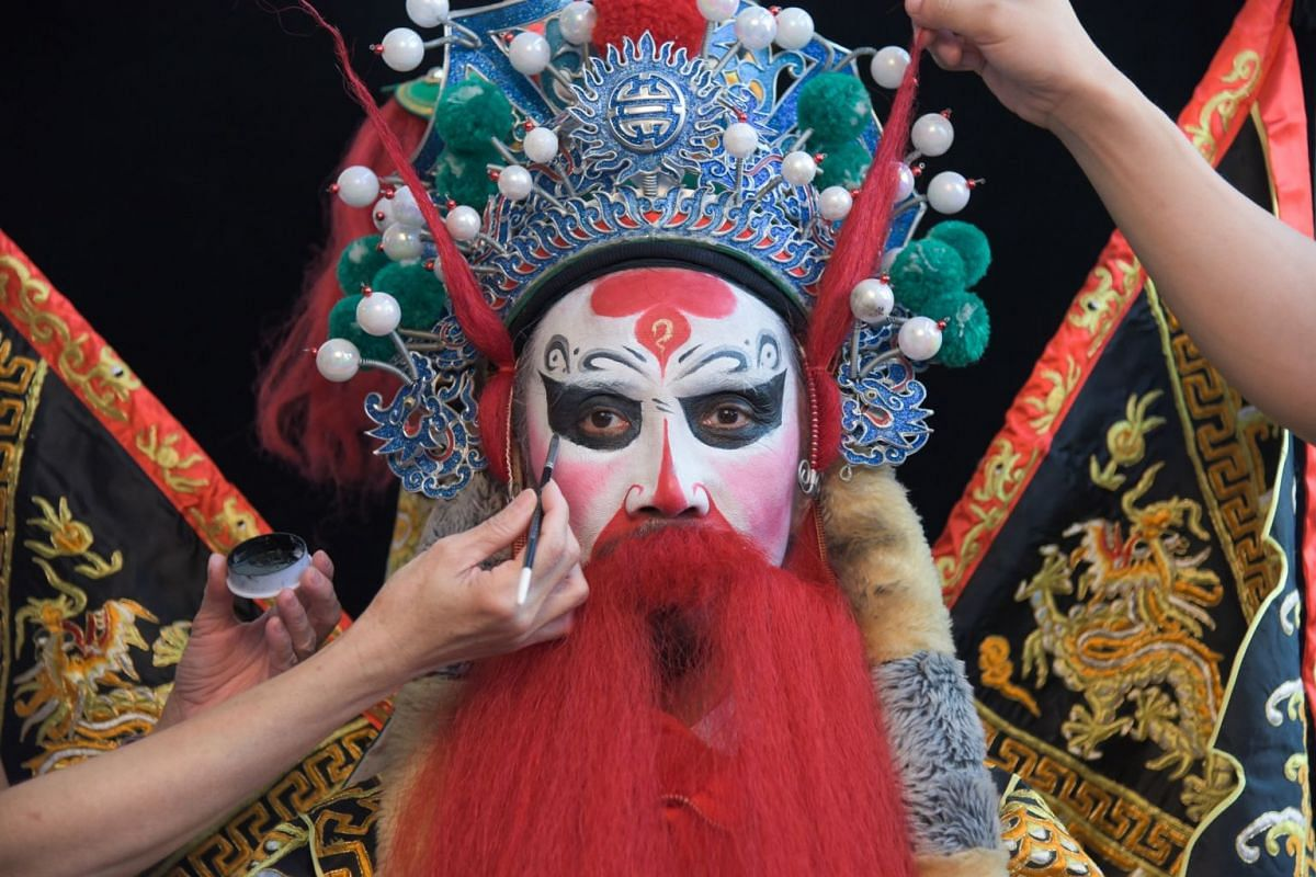 This traditional opera outfit is part of Face Of The Day, which uses 369 photos of 369 different faces to tell 369 different stories. Each portrait has been posted on Mr Yang's Instagram and Facebook accounts, and website.