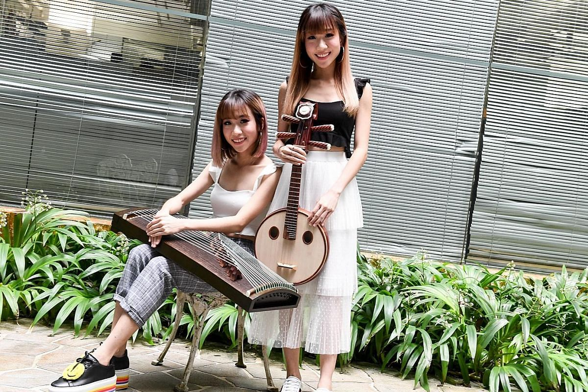 Musa, a contemporary Chinese musical ensemble, is made up of twin sisters Sophy (left) and Clara Tan (right), and composer Dayn Ng. Ng and flautist Tan Qing Lun also founded arts company House Of Music.