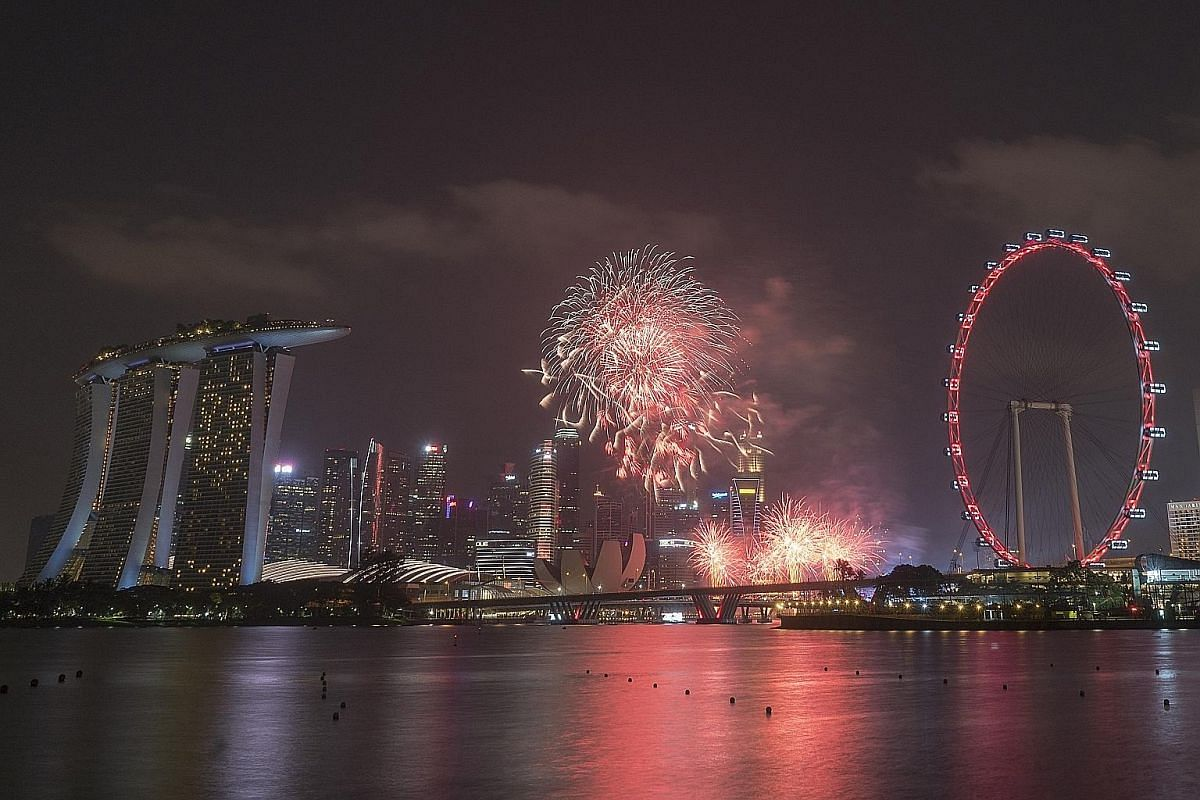 A 4-second shutter speed, f/14 aperture and ISO 250 were set on a Sony a7R II to capture this photograph of fireworks.