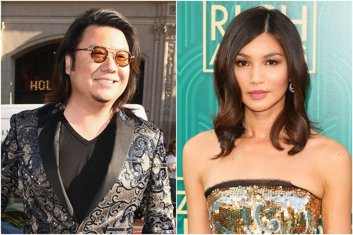 Author Kevin Kwan (left) and actress Gemma Chan attend the premiere of Crazy Rich Asians in Hollywood, California, on Aug 7, 2018.