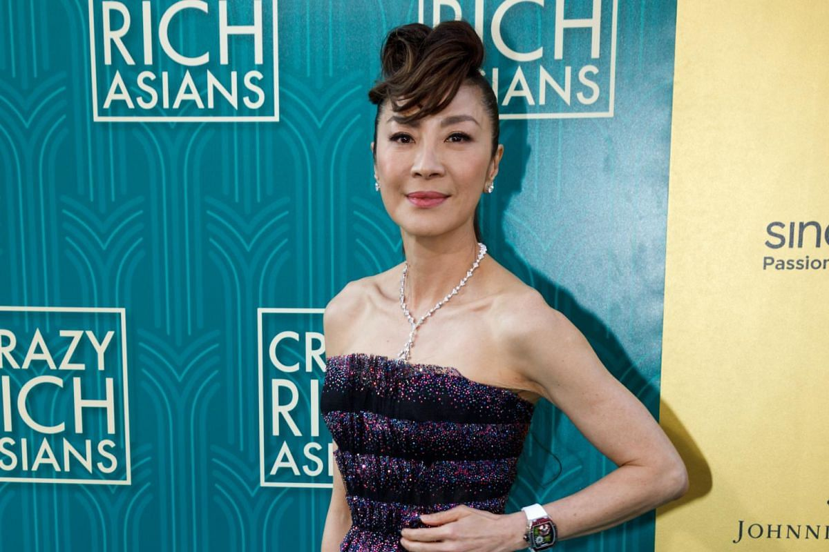 Malaysian actress and cast member Michelle Yeoh at the US premiere of Crazy Rich Asians at the TCL Chinese Theatre IMAX in Hollywood on Aug 7, 2018.