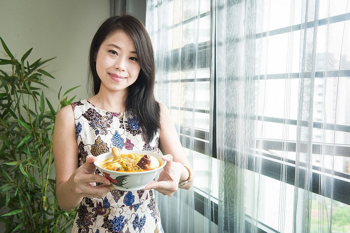 The lontong chap goh mei by Ms Yany is different from the version found in Singapore because it has chicken in it. Ms Julia Yany, who is from Indonesia, says lontong chap goh mei reminds her of home.