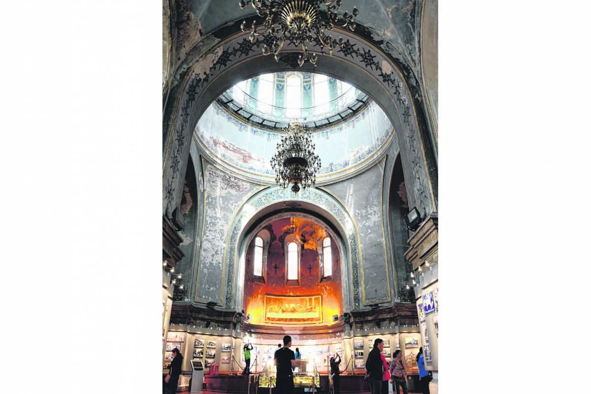 The stunning interior of St Sophia Cathedral in Harbin.
