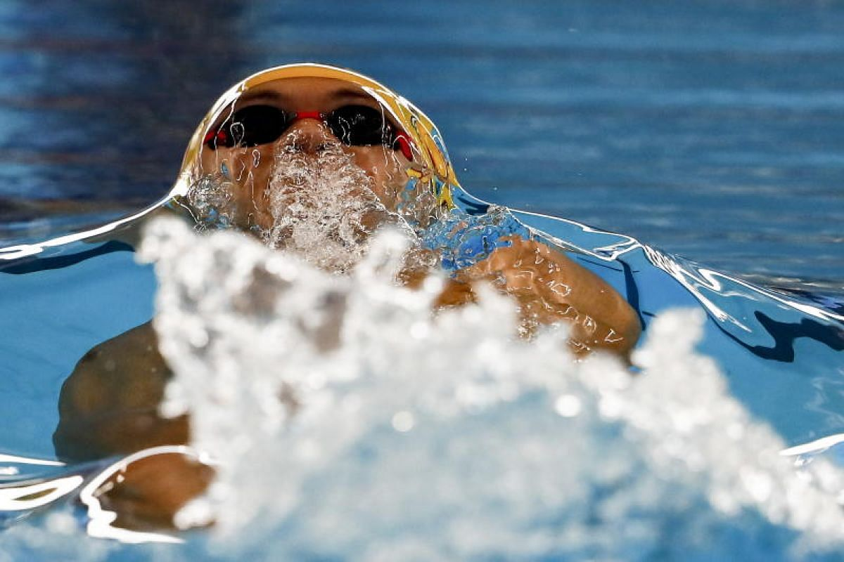 Jiayu Hu of China competes during the men's 50m Backstroke Heats at the 2018 Asian Games in Jakarta, Indonesia on 20 Aug, 2018. The 18th Asian Games Jakarta-Palembang 2018 will be held in Jakarta and Palembang. PHOTO:EPA-EFE