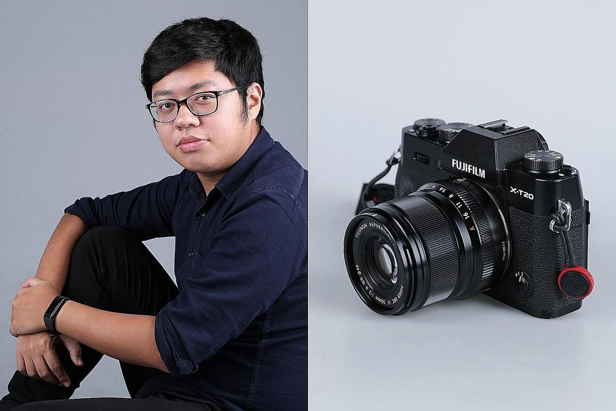 Mr Desmond Ng bought this Fujifilm X-T20 camera last year after saving up for a year. Photography has helped him cope with his ups and downs.