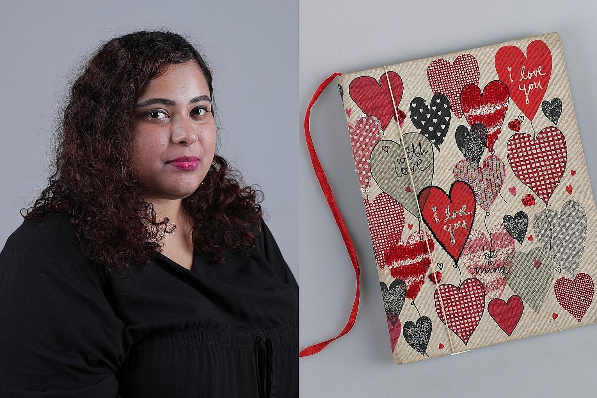 Ms Nawira Baig, who writes to cope with her experiences, says her elder sister gave her this diary, and the sequins, beads and texture of the cover help calm her down through tactile stimulation, keeping her grounded and in the present.