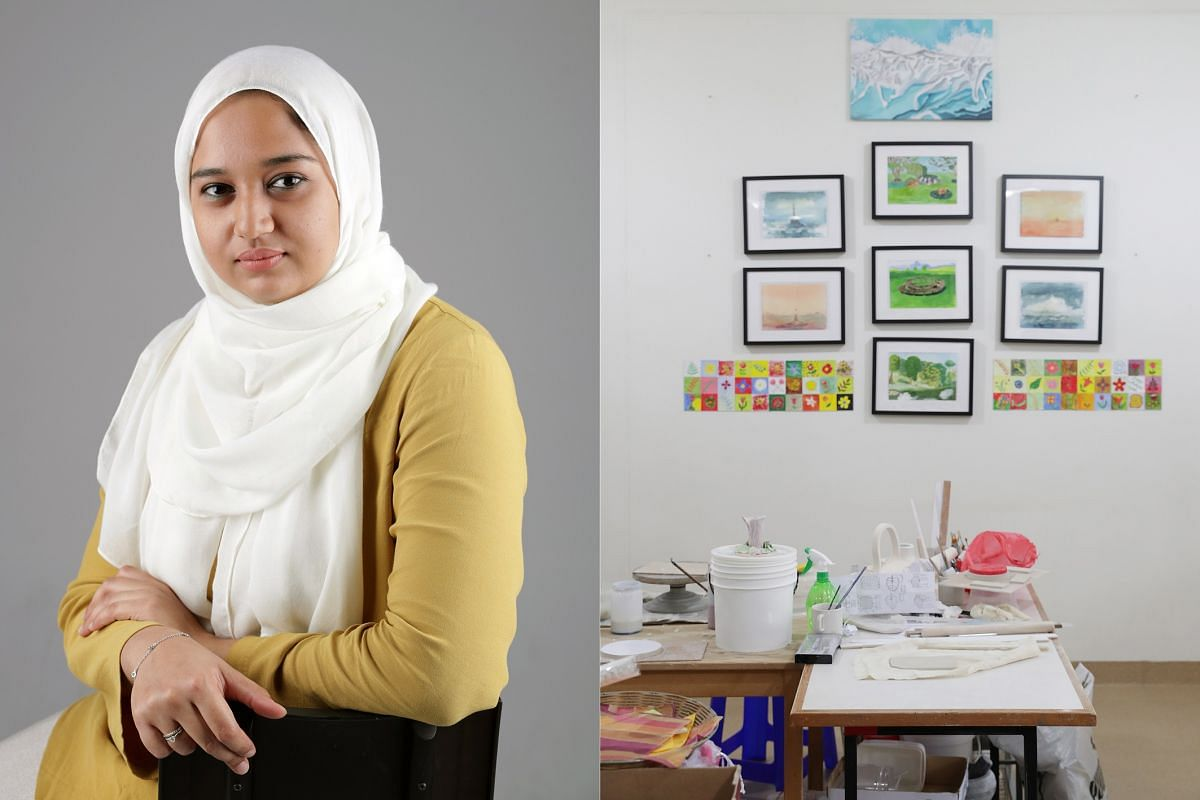 Ms Sumaiyah Mohamed, 30, who was diagnosed with schizophrenia and depression in 2007. She currently works as a programme coordinator of rehabilitation sessions and other programmes at Club HEAL, an organisation helping people with mental illness and