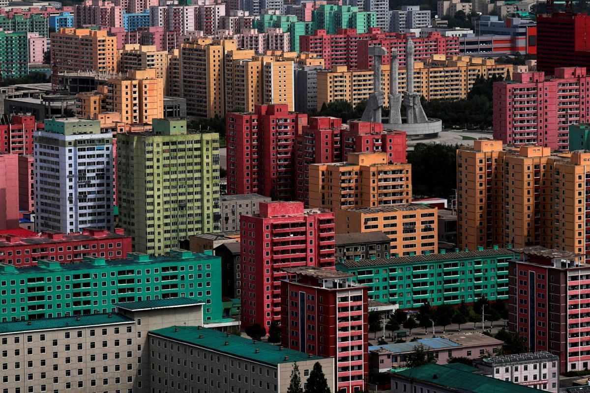High-rise buildings seen in Pyongyang, North Korea, on Sept 11, 2018. PHOTO: REUTERS