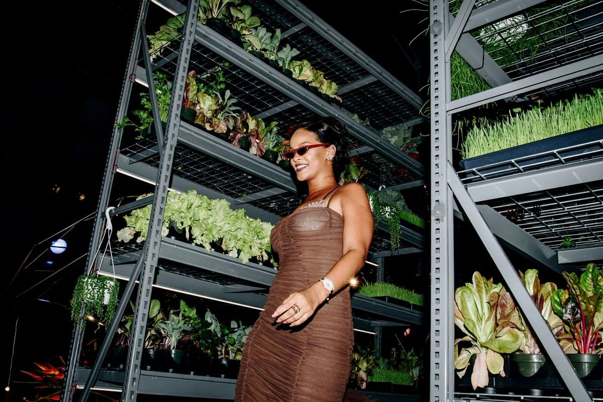 Rihanna attends her Savage X Fenty show at the Brooklyn Navy Yard, on Sept 12, 2018.