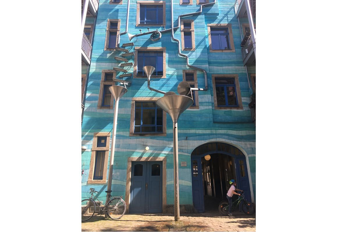 The Kunsthofpassage (above) in the New Town is a series of intimate courtyards designed by local artists.
