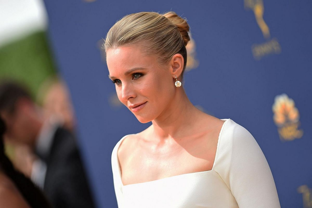 Kristen Bell arrives for the 70th Emmy Awards at the Microsoft Theatre in Los Angeles on Sept 17, 2018.