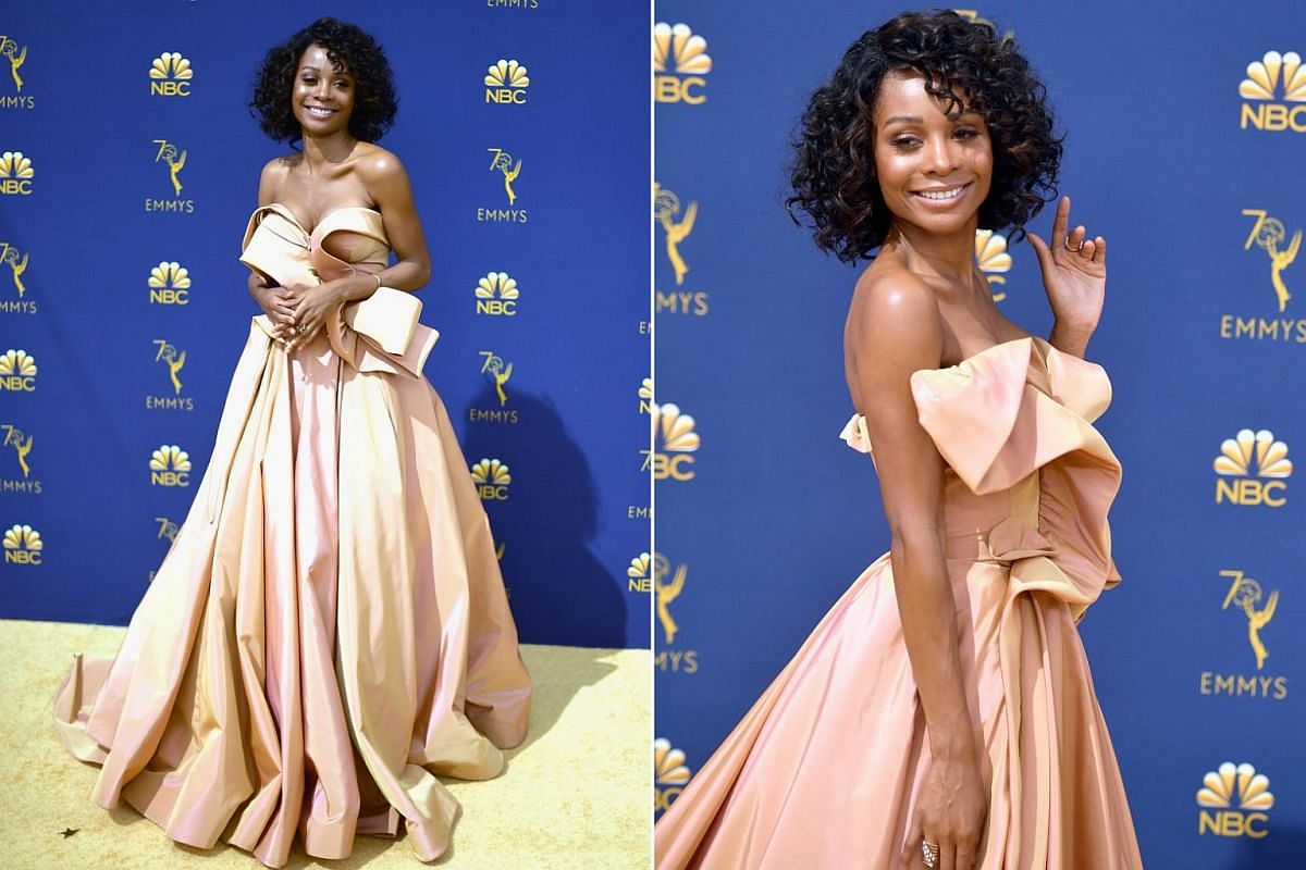 Zuri Hall attends the 70th Emmy Awards at Microsoft Theater on Sept 17, 2018 in Los Angeles.