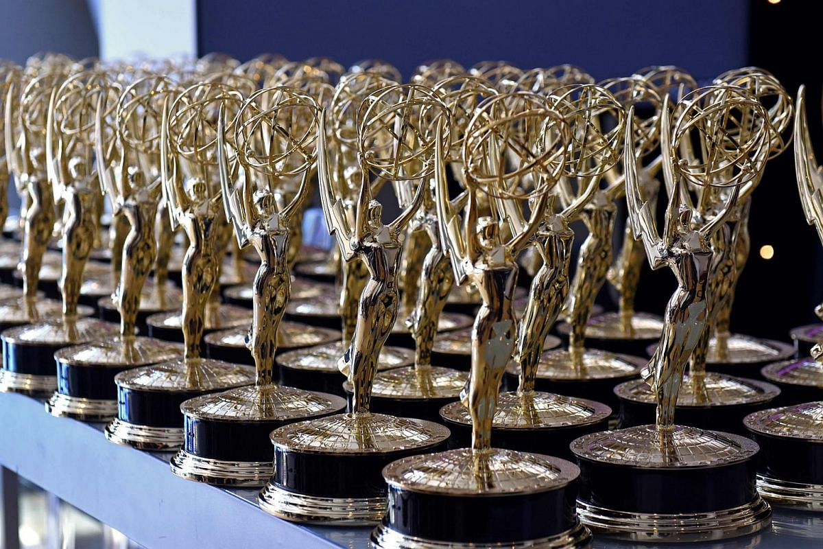 Emmy statues are seen before the 70th Emmy Awards at the Microsoft Theatre in Los Angeles on Sept 17, 2018.