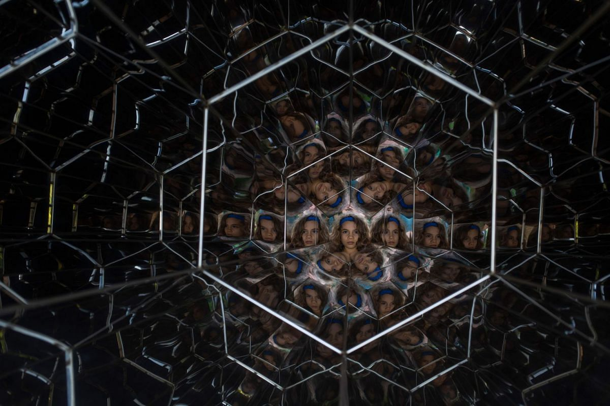 "View of the work ""Viewing Machine"" by Danish-Icelander artist Olafur Eliasson, displayed at the Inhotim Centre for Contemporary Art in Brumadinho, some 60 km southeast of Belo Horizonte, Minas Gerais, Brazil on September 06, 2018. PHOTO: AFP"