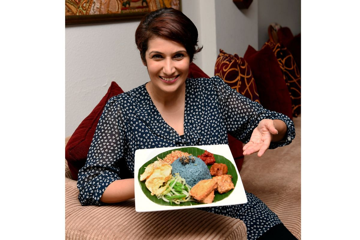 Home cook Eiktha Khemlani, whose signature dishes include nasi kerabu, says it is easy to have a meat-free diet.