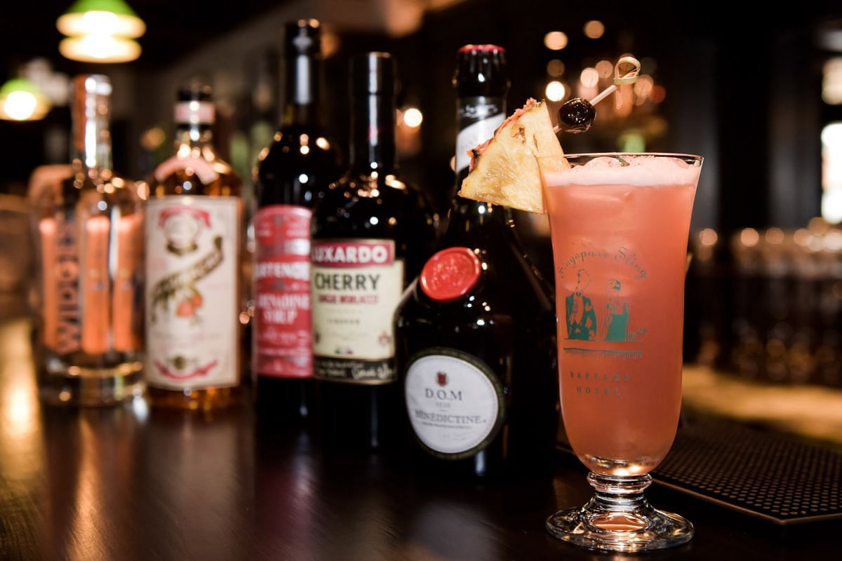 Raffles Hotel's Long Bar reopened last week with an updated version of the iconic Singapore Sling (above), using the same recipe but new ingredients such as a new gin and a custom-made grenadine syrup.