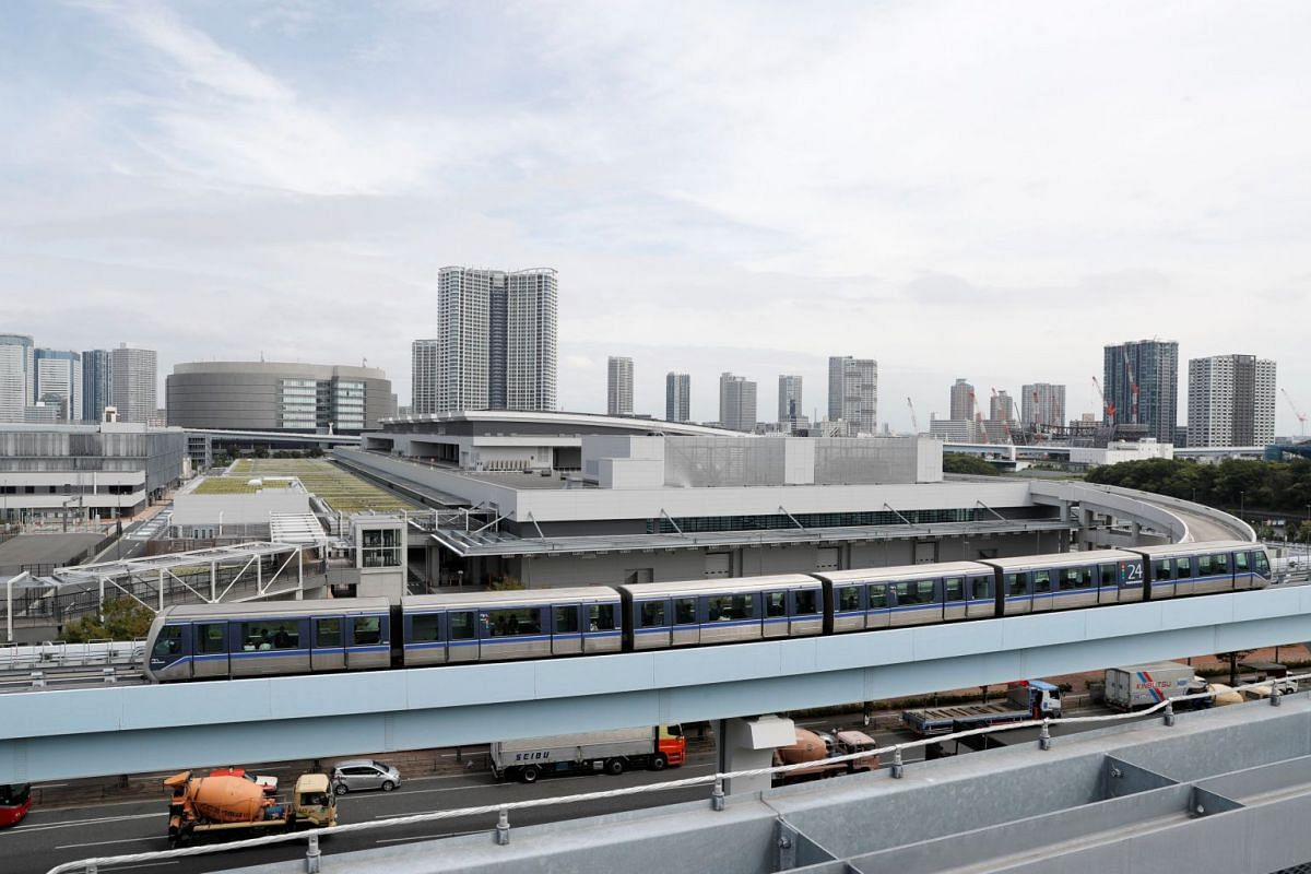 The new Tokyo Metropolitan Central Wholesale Market, also known as Toyosu market, where the Tsukiji vendors will be relocated.