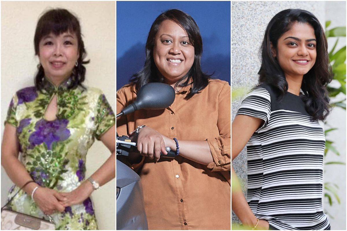 From left: Ms Polly Lim, Ms Rena Hamid and Ms Habidah Shah have chosen to stay single in order to pursue other opportunities.