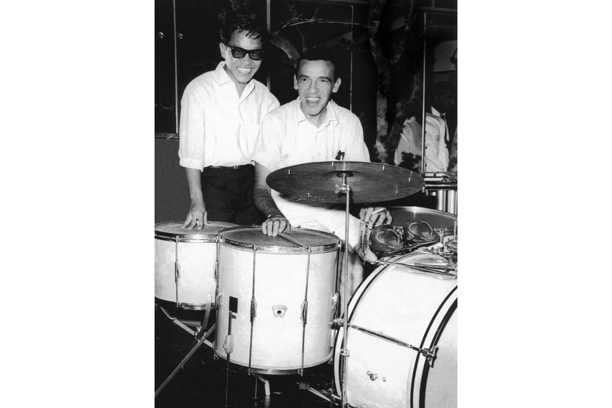 Soliano got to jam with one of his idols, drummer Buddy Rich, at the Rosee d'Or, Lido Night Club in Singapore in 1961.