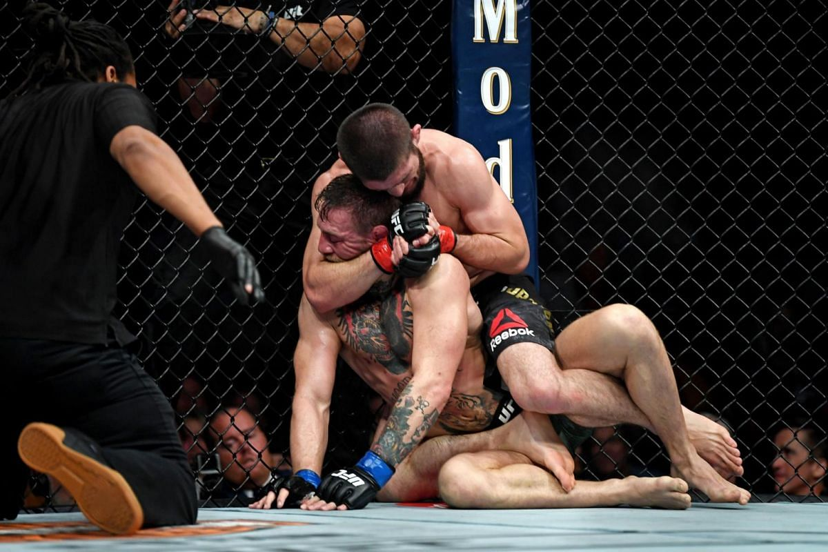 Nurmagomedov forced McGregor to submit via a rear-naked choke to stretch his professional record to 27-0.