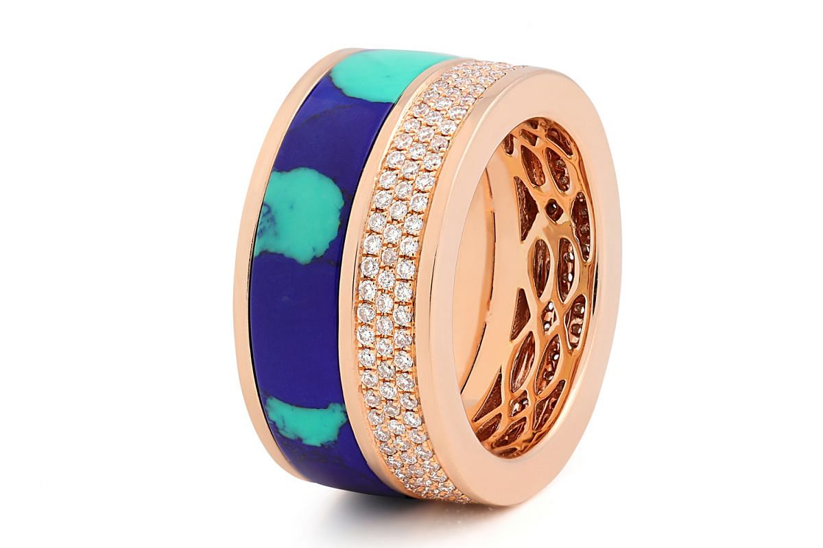 Maison Tjoeng's Composition Ring in Azurite, US$7,700.