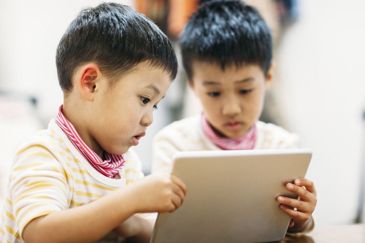 Playing games on a tablet will not help children to grow emotionally, but, with the device, they can stay in touch with a parent who is travelling.