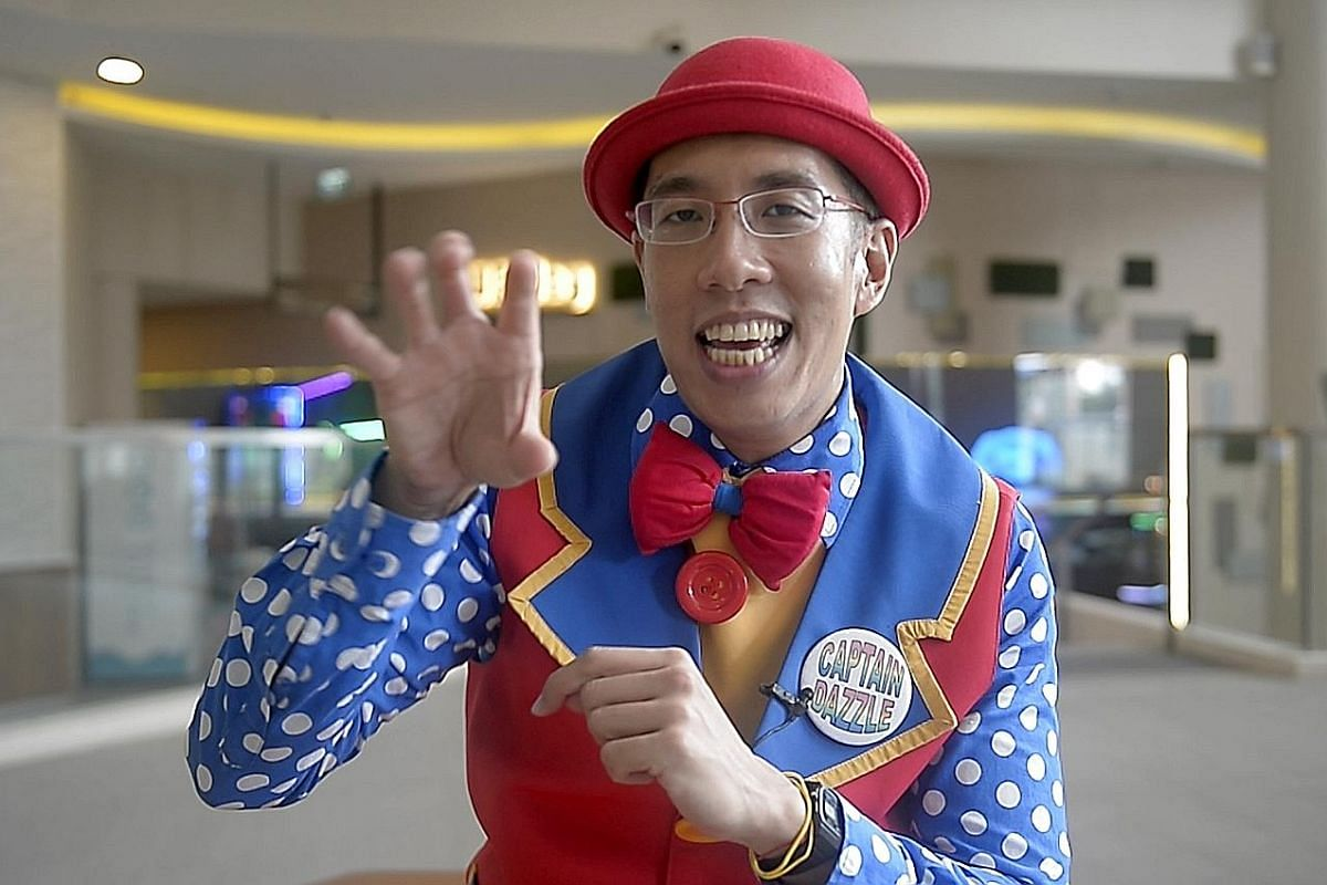 Mr Edmund Khong grew up with a father who did magic tricks and performed pantomime skits.