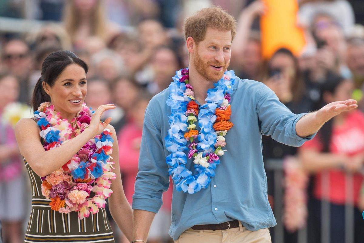 """Kensington Palace had announced a few days earlier that Prince Harry and Meghan are """"expecting a baby in the spring of 2019""""."""