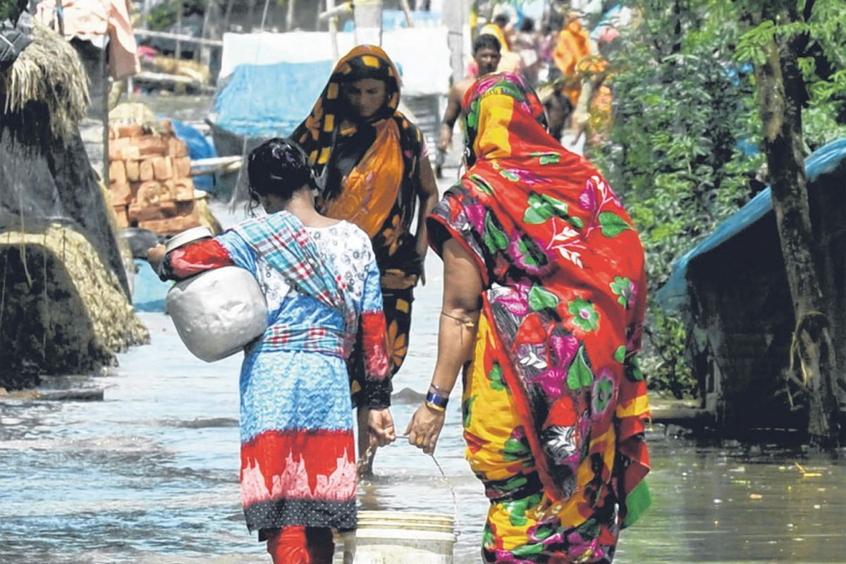 Mousuni, an island near Kolkata in the Sundarbans delta, often gets flooded at high tide. The region has recorded an annual sea level rise of 12mm, four times the global average.