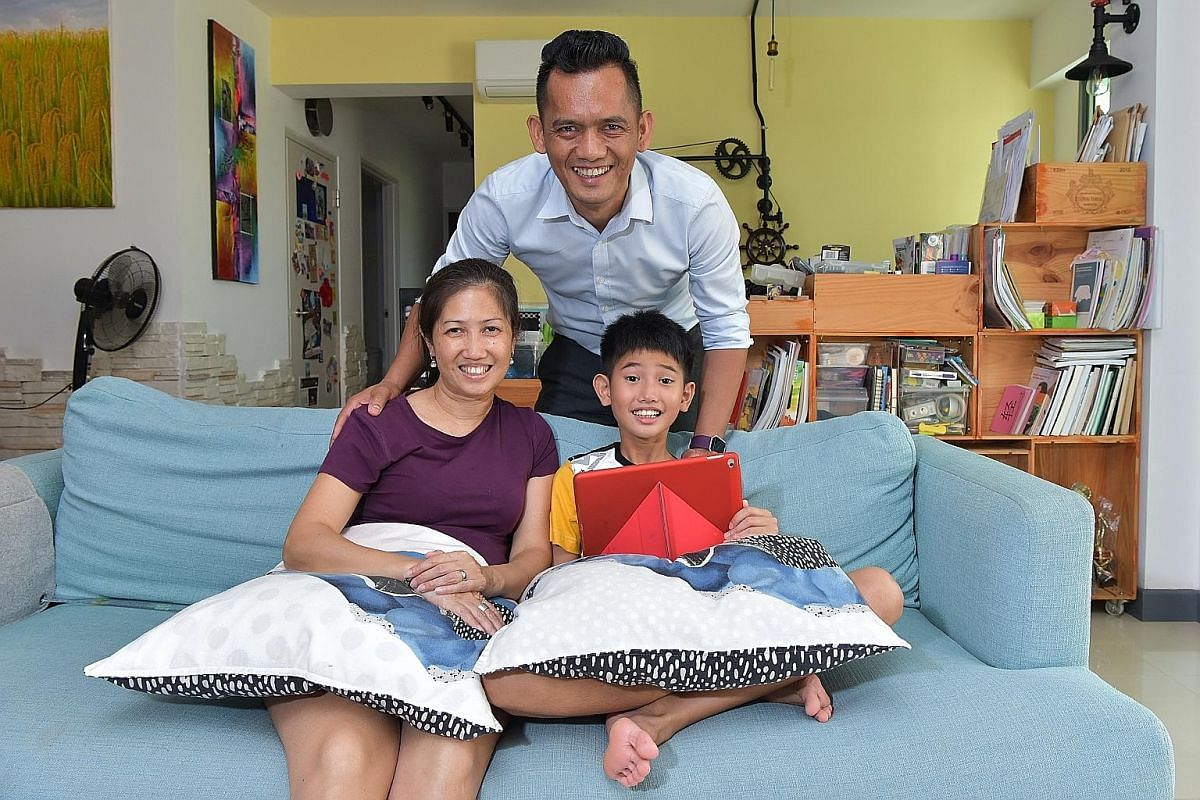 Mr David Seragih and his wife Rebekah have guided their son, Moshe Hans Seragih, now nine, on what is good and bad media use since he was four. Mr Sadayan Ahmed Maideen Jabbar and his wife, Madam Wahidah Fervin Abdul Azeez, review the online content