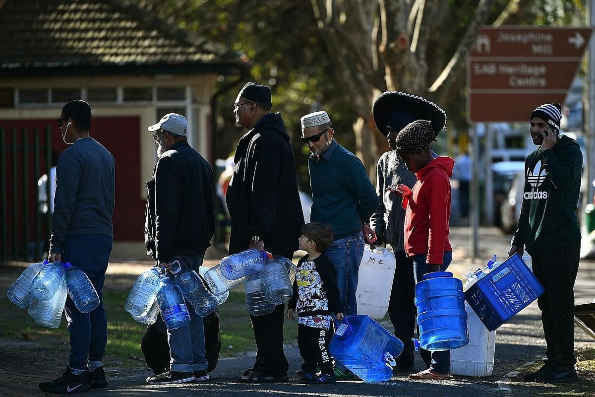 Mr Wayne Dyason, principal inspector for the City of Cape Town law enforcement, showing a possible illegal set-up used by residents in Newlands district to collect water. Enforcement exercises are conducted about two to three times a week to catch re