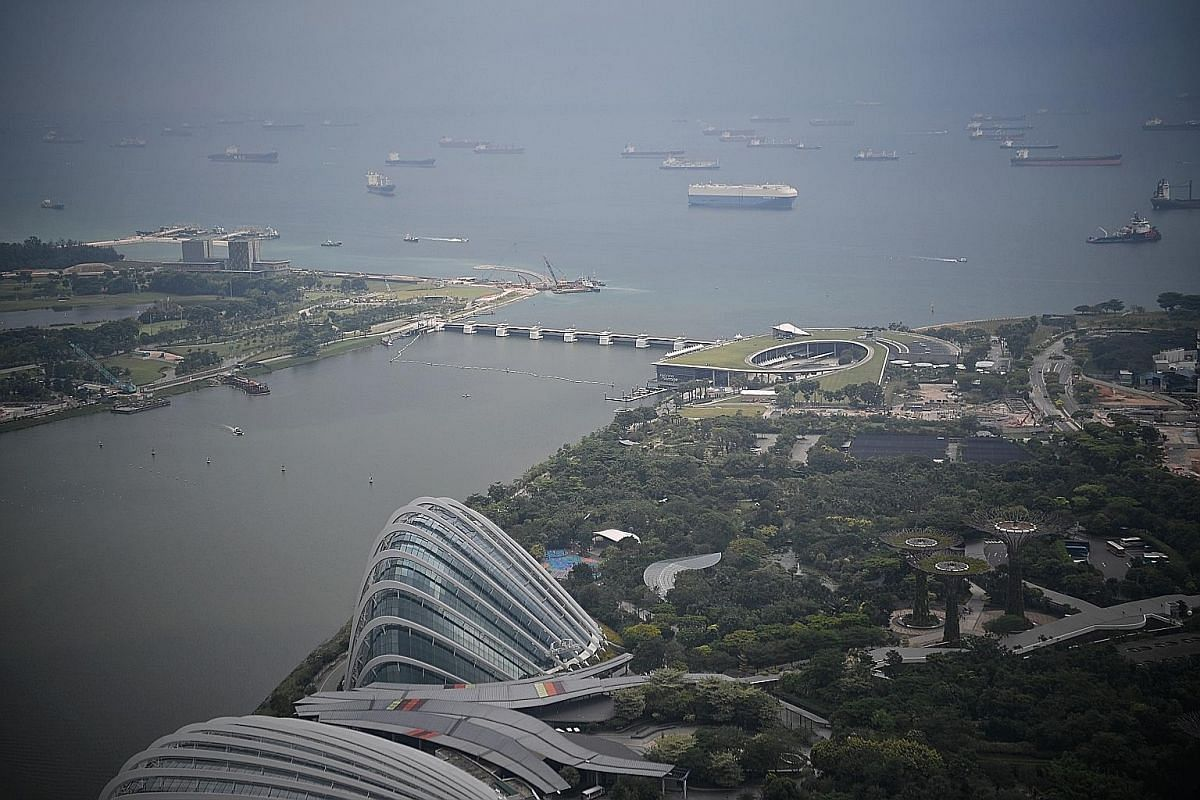 A sufficiently high tide paired with a large storm could potentially sweep seawater into Marina Reservoir (above), says Assistant Professor Yuan Jing from NUS' department of civil and environmental engineering.
