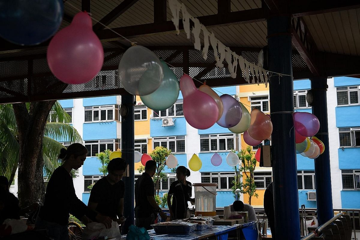 The parties are often held at spaces near the children's homes, such as pavilions, void decks and sometimes even restaurants.