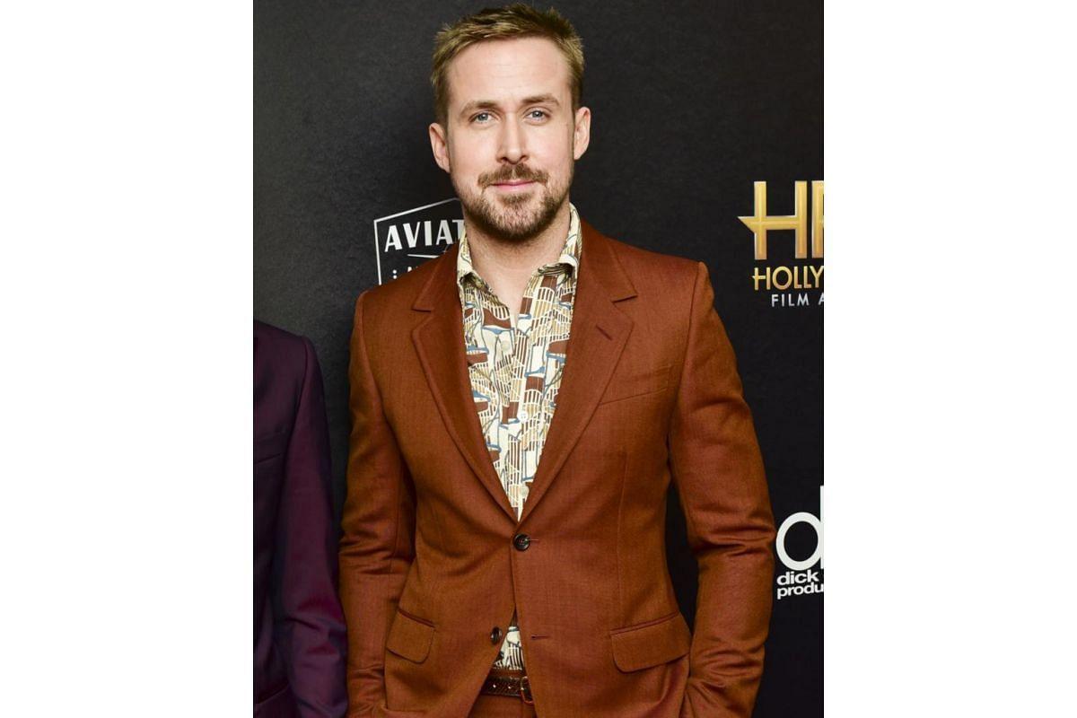 Ryan Gosling at the Hollywood Film Awards on Nov 4, 2018.