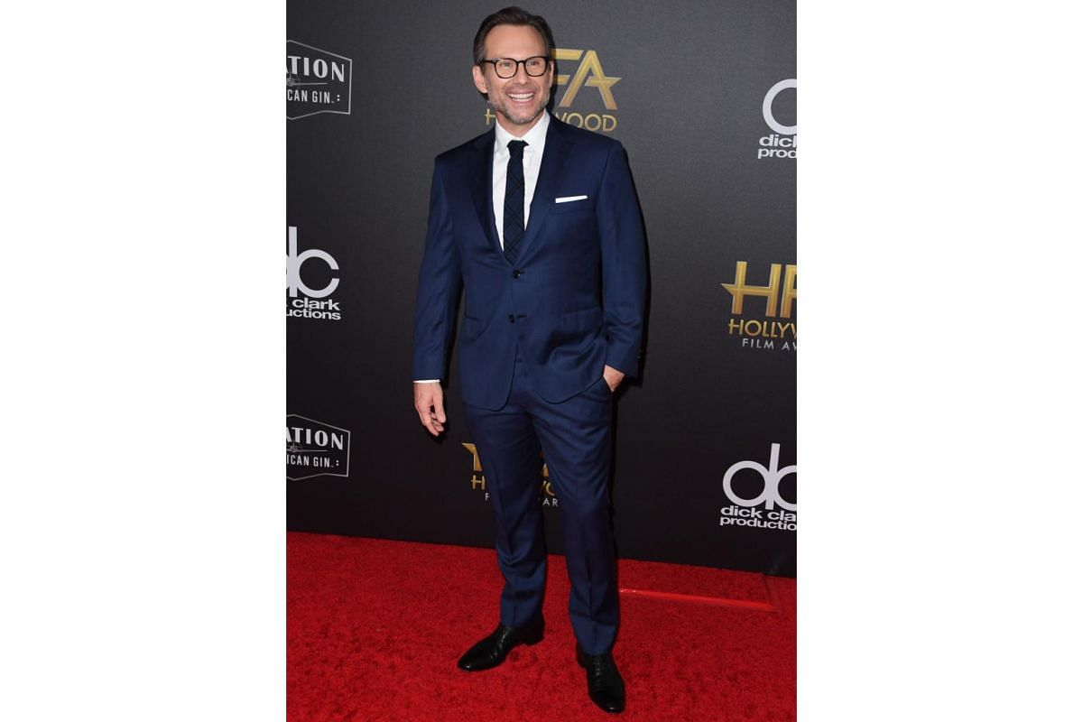 Christian Slater at the awards show.