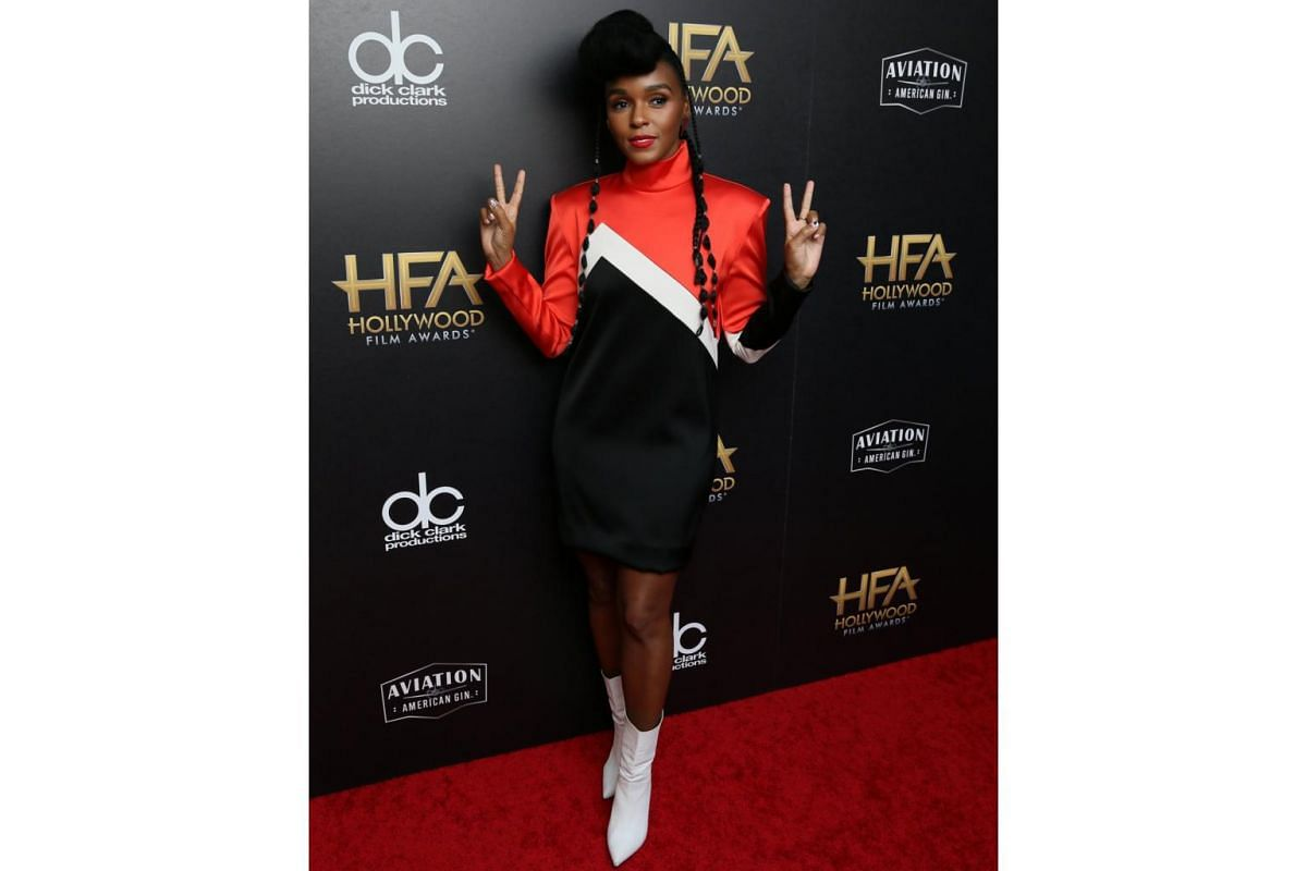 Janelle Monae at the awards show.