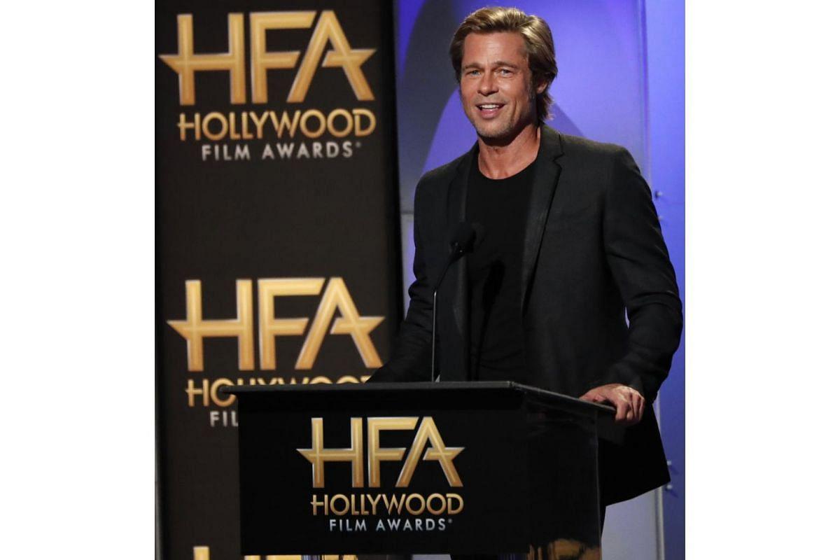 Brad Pitt was a presenter at the awards show on Nov 4, 2018.
