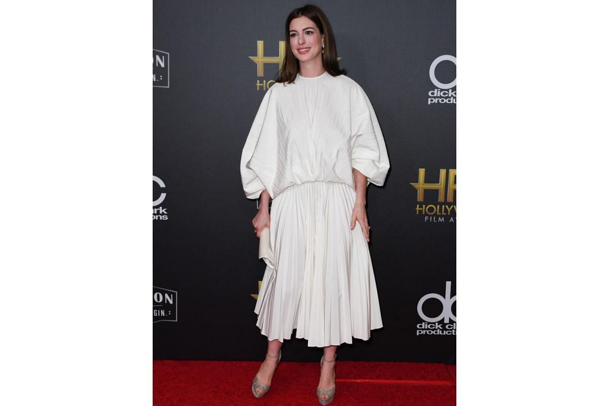 Anne Hathaway at the awards show.