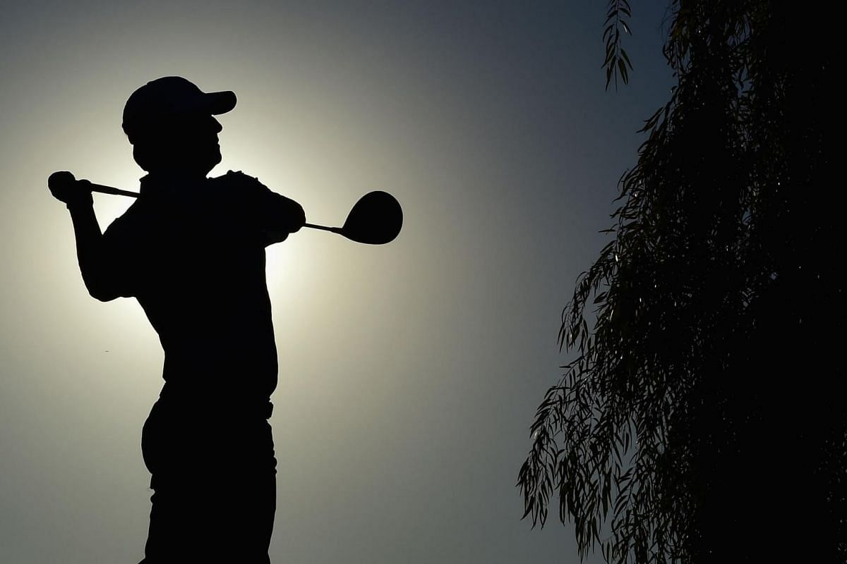 David Toms playing his tee shot on the 17th hole during the first round of the Charles Schwab Cup Championship in  Phoenix, Arizona, on Nov 8, 2018.