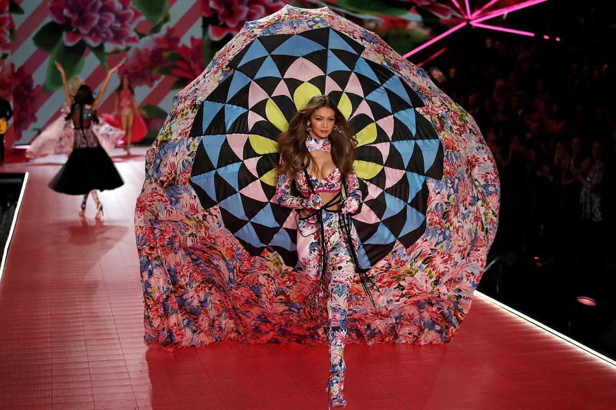 Gigi Hadid presents one of the show's more extravagant outfits.