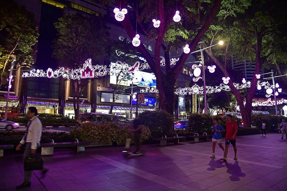 More than 20 Disney and Disney-Pixar characters, such as Donald Duck, Snow White, Cinderella and Toy Story characters Woody and Rex are part of the street light-up. Mickey Mouse icons adorn trees along Orchard Road. Disney-themed decor can also be fo