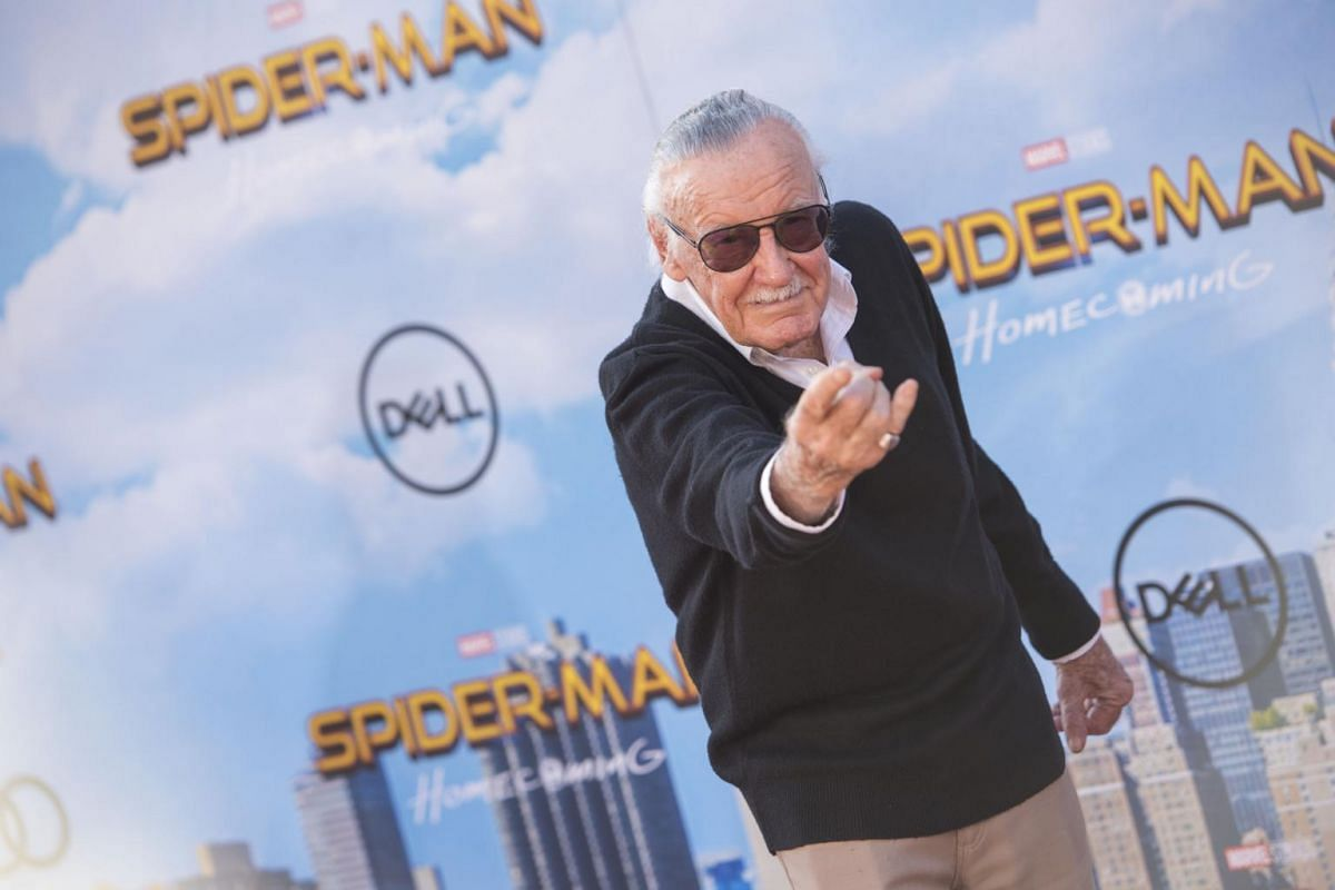 Stan Lee at the world premiere of Spider-Man: Homecoming in Hollywood, California, on June 28, 2017.