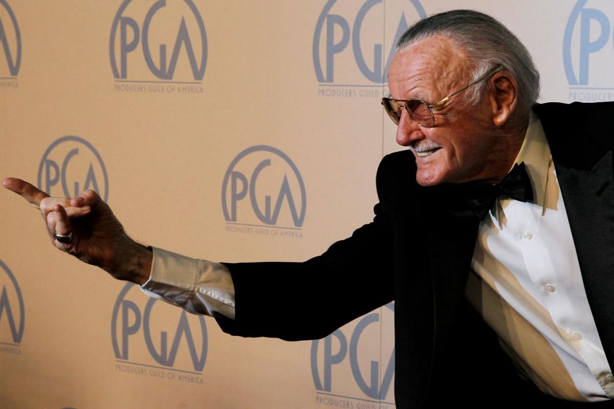 Stan Lee at the 23rd annual Producers Guild Awards in Beverly Hills, California, Jan 21, 2012.