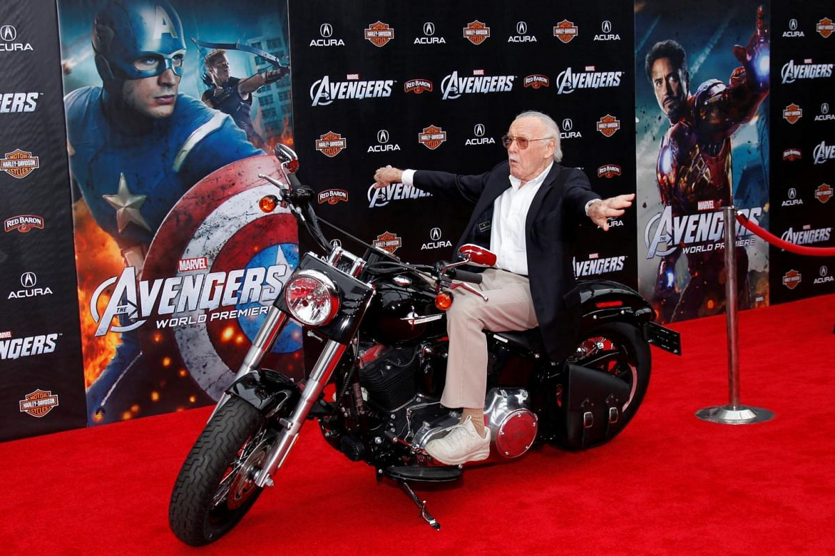Stan Lee at the world premiere of Marvel's The Avengers in Hollywood, California, on April 11, 2012.