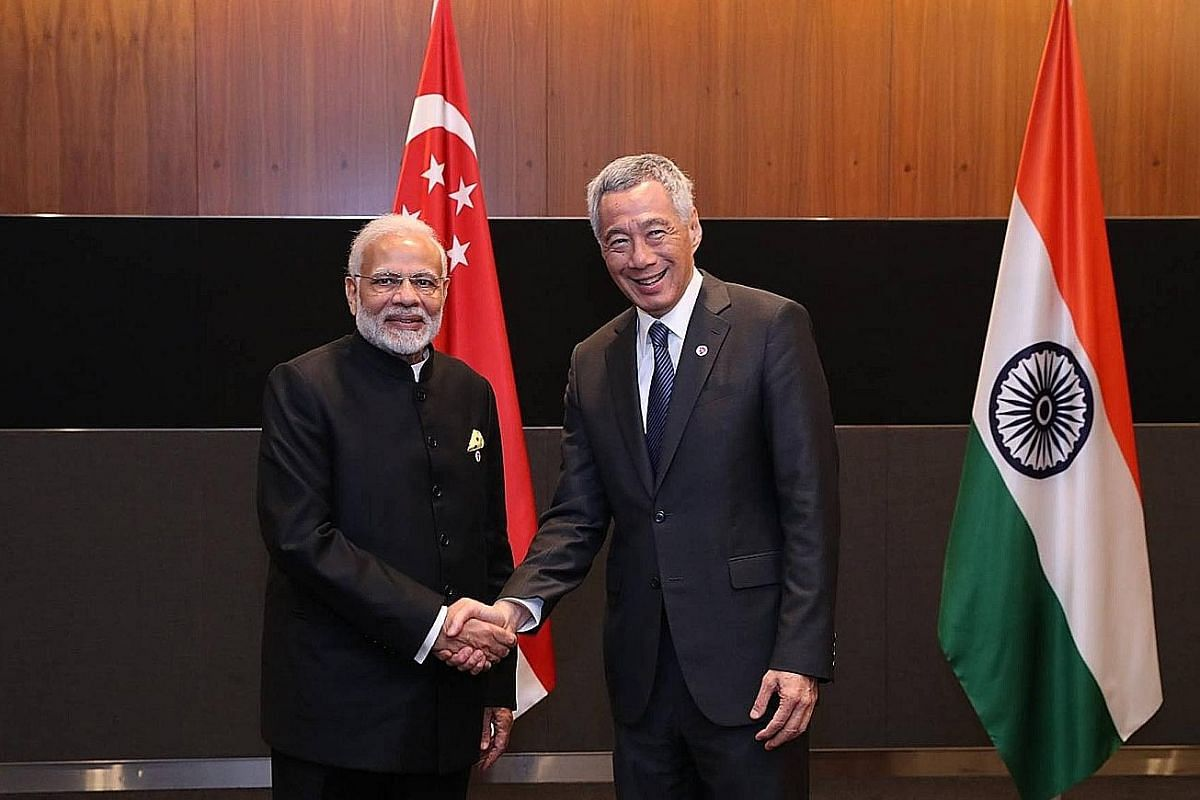 Prime Minister Lee Hsien Loong met Japanese Prime Minister Shinzo Abe (above) yesterday. They welcomed the entry into force of the Comprehensive and Progressive Agreement for Trans-Pacific Partnership, and PM Lee commended Mr Abe for his leadership r