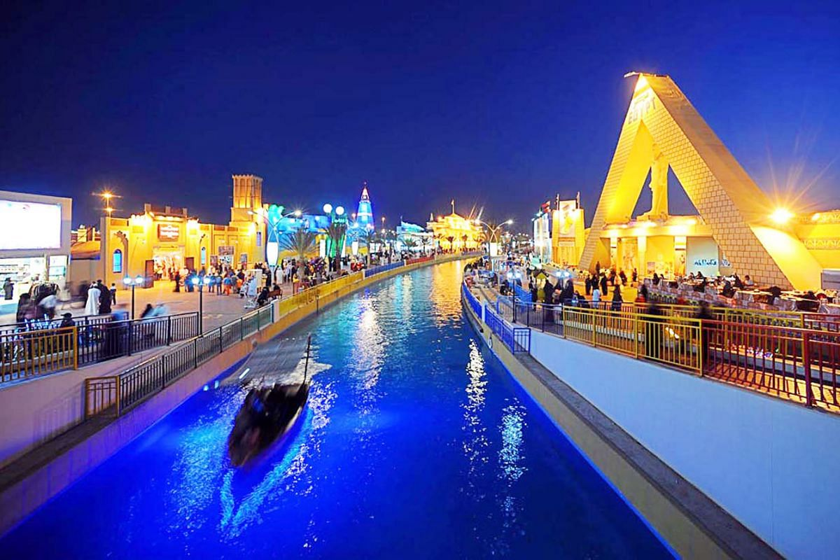 Global Village Dubai, a multicultural festival park. The city's rich Arab history is interwoven with other cultures and ethnicities of people who have settled there. Dubai aims to show that it is more than just luxury and ostentation, and is pulling
