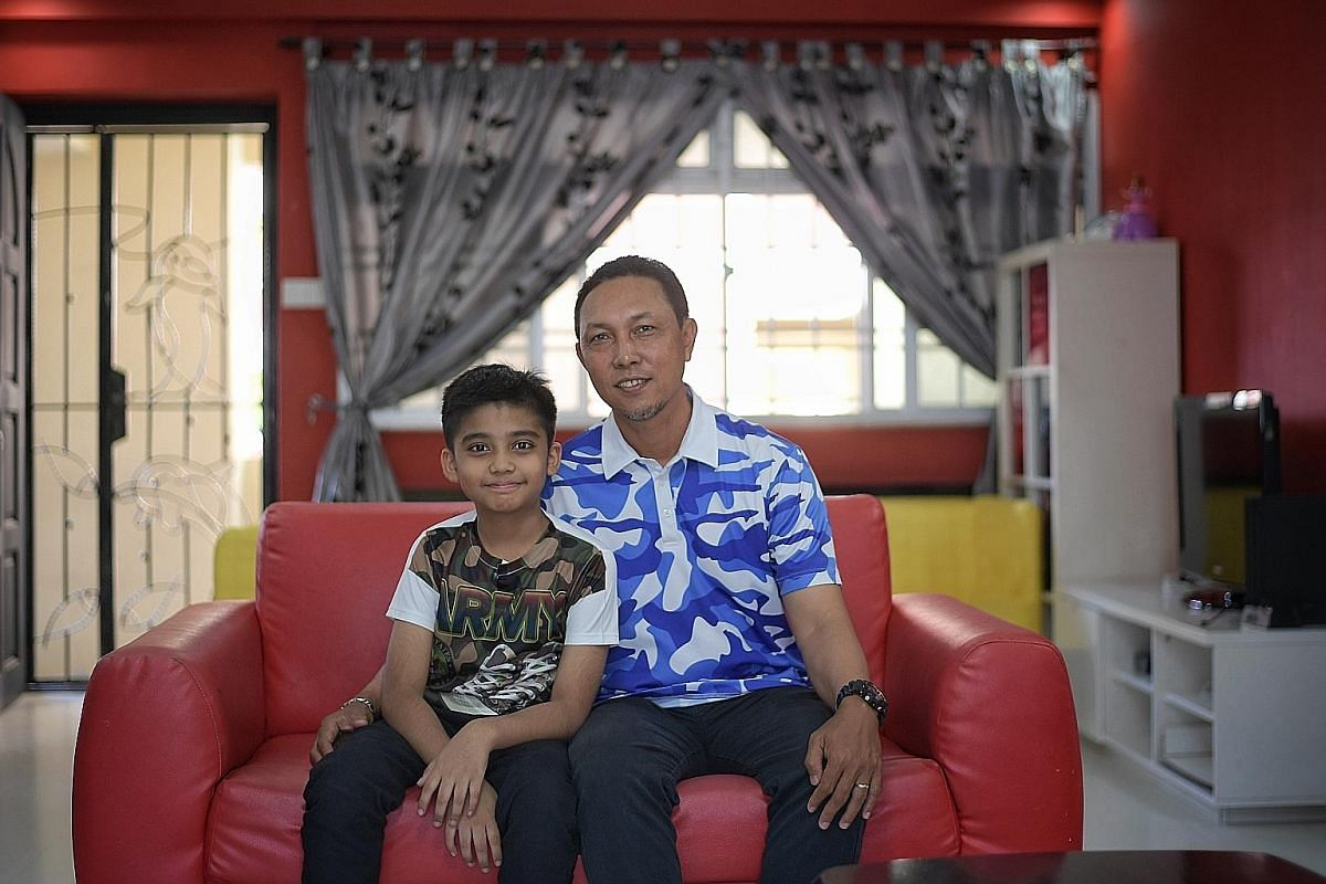 Mohamad Fardeen Altaf with his uncle Kamsor Sohor, who donated one-third of his liver to save the 11-year-old boy's life.