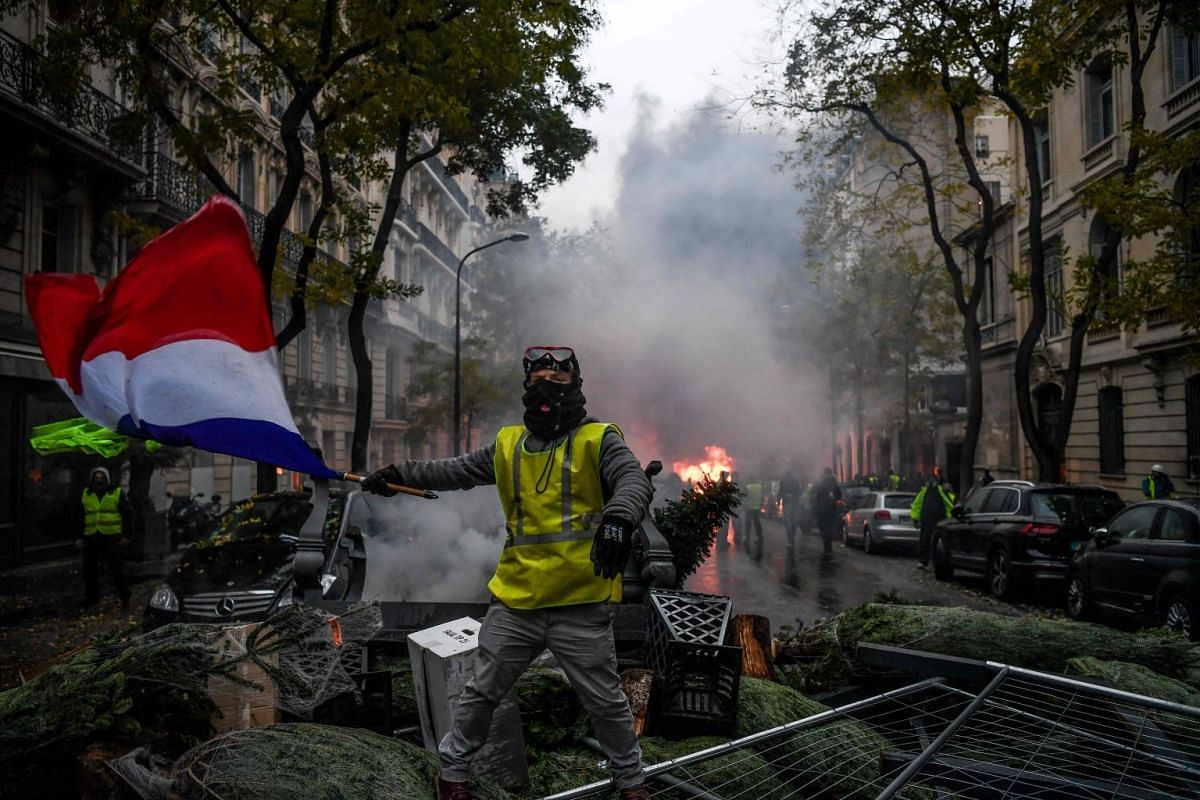 Mr Macron has sought to douse the anger by promising three months of nationwide talks on how best to transform France into a low-carbon economy without penalising the poor.